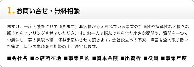 1,お問い合わせ・無料相談