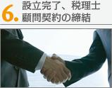 会社設立完了。税理士顧問契約